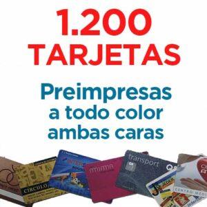 1200 TARJETAS PVC IMPRESAS COLOR A DOS CARAS