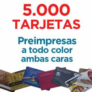 5000 TARJETAS PVC IMPRESAS COLOR A DOS CARAS