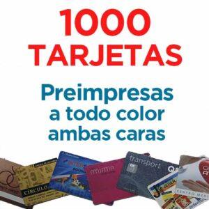1000 TARJETAS PVC IMPRESAS COLOR A DOS CARAS