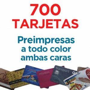 700 TARJETAS PVC IMPRESAS COLOR A DOS CARAS