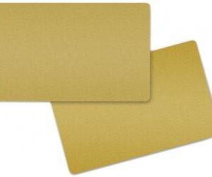 Tarjeta color Oro Metálico. Grosor 0,76 mm. Paquete de 100 tarjetas