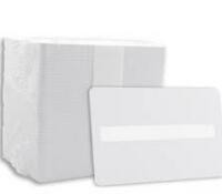 Tarjetas Blancas Panel de Firma. 0,76 mm. Pack 100 uds.