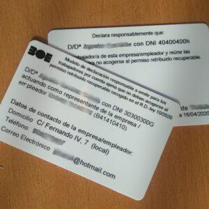 Certificado de Desplazamiento por Trabajo – Estado de Alarma – Coronavirus